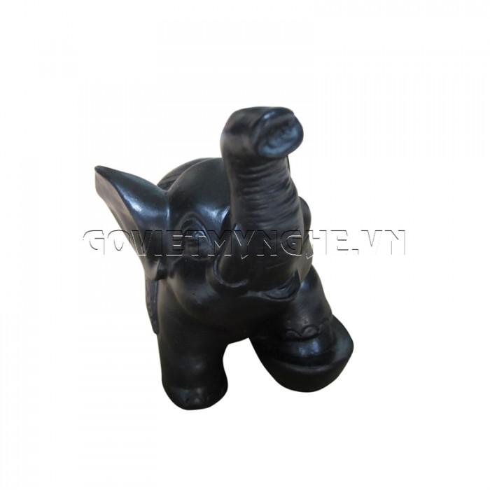 Tượng Voi Đá Trang Trí Phong Thủy N1 (Màu Đen)  - Dài 12cm x Rộng 6cm x Cao 12cm .2