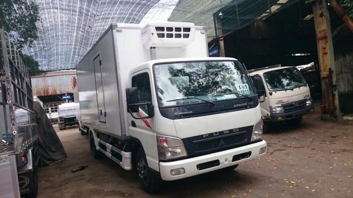 Bán xe tải thùng đông lạnh tải trọng 4 tấn, xe tải Fuso Canter 8.2 HD