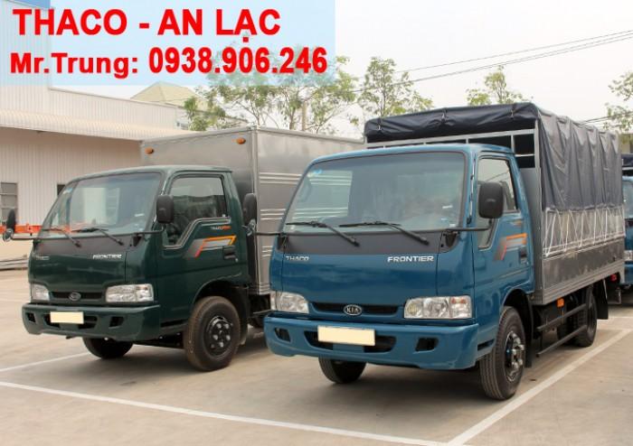 Xe tải Kia Thaco K165s, tải trọng 2t4 được phép lưu thông vào tp Xe tải K165s Thùng mui bạt, thùng kín