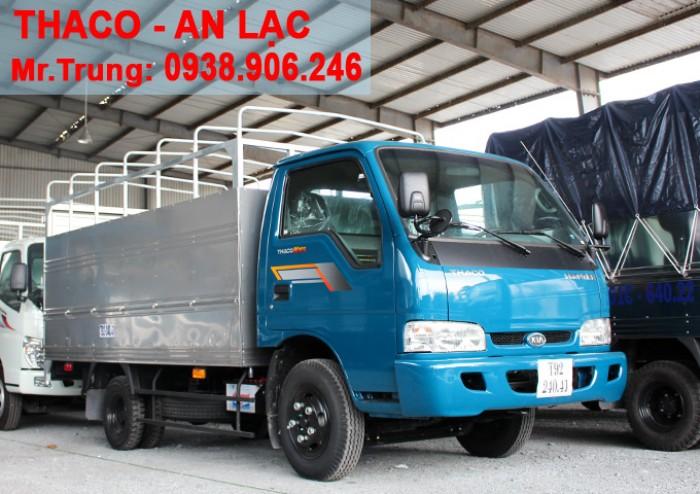 Xe tải Kia Thaco K165s, tải trọng 2t4 được phép lưu thông vào tp Xe tải K165s thùng mui bạt