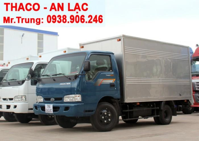Xe tải Kia Thaco K165s, tải trọng 2t4 được phép lưu thông vào tp Xe tải K165s thùng kín