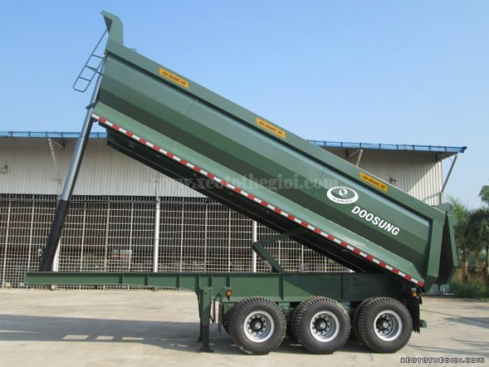 Bán sơ mi rơ mooc ben 24m3 loại 28 tấn – Xuật xứ Hàn Quốc