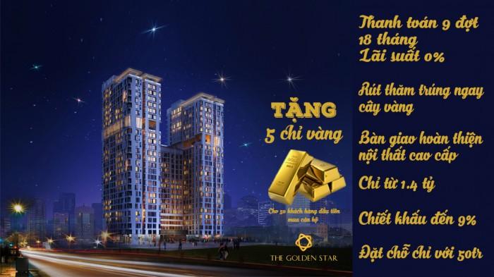 The Golden Star Ngay Trung Tâm Q.7 Đầu Tư Sinh Lời Cực Cao Giá Khởi Điểm Chỉ 1,33 Tỷ/căn CK 9%