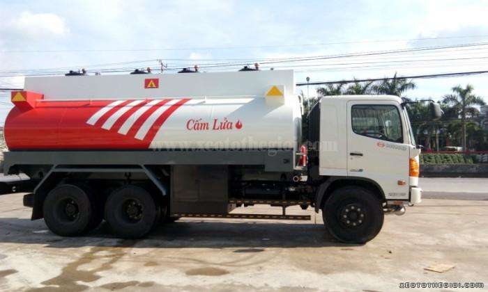 Bán xe tải Hino FM8JNSA bồn chở dầu tổng tải 24 tấn, giao xe Toàn Quốc