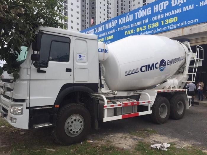 Xe trộn bê tông Howo 10m3, 12m3 tại  Hà Nội 2016