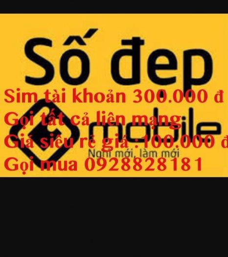 Sim tai khoan khung 300.000 đ gọi liên mang gia 100.000 đ