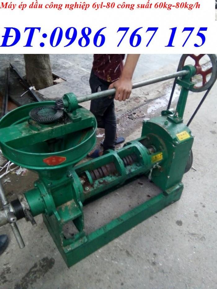 Máy ép dầu 6yl-68, máy ép dầu 40kg/h giá rẻ