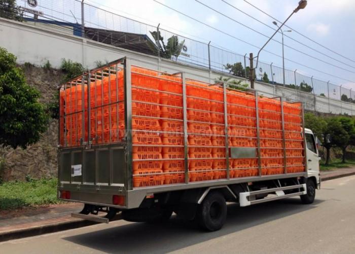 Bán xe tải Hino FC chở Gà LỒng thùng, xe, phiếu có sẵn, giao ngay