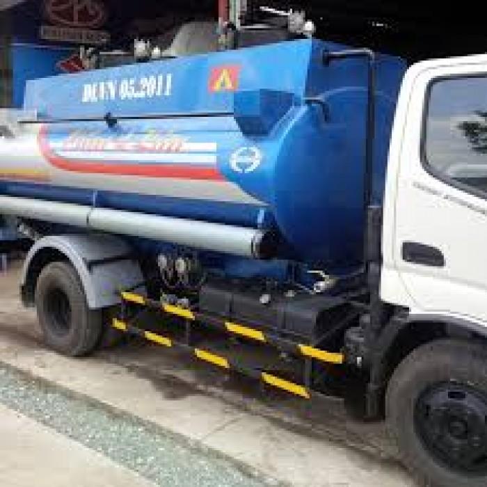 Xe Xitec 6 khối hãng Hino series WU342L chở xăng dầu