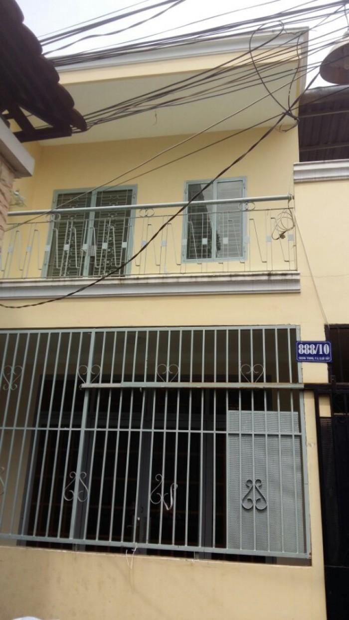 Nhà Hẻm 888 QuangTrung, P8, GòVấp, 5.4x13.5m, 1 trệt+1lầu, 4PN,2WC, Hẻm3m, TâyNam
