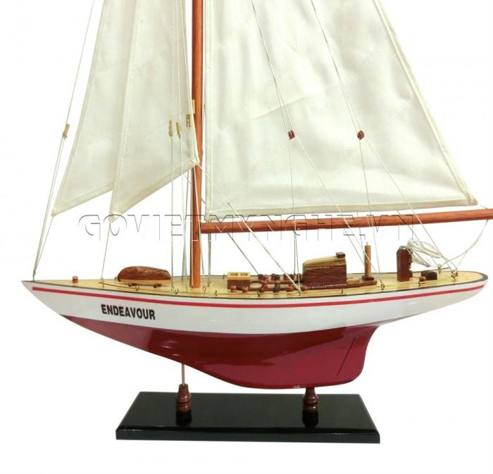 Mô hình du thuyền gỗ Endeavour 50cm1