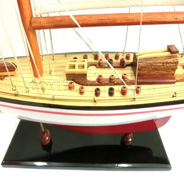 Mô hình du thuyền gỗ Endeavour 50cm4