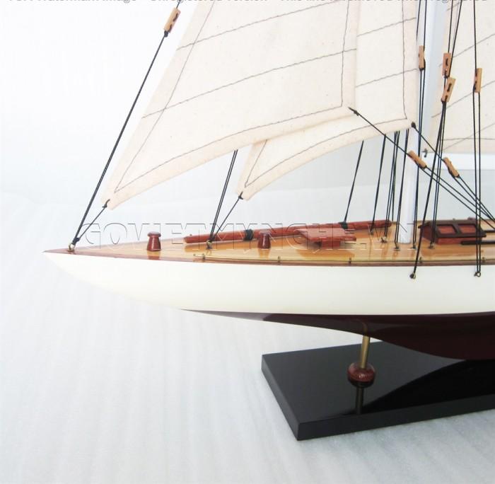 Mô hình du thuyền gỗ Rainbow 50cm1