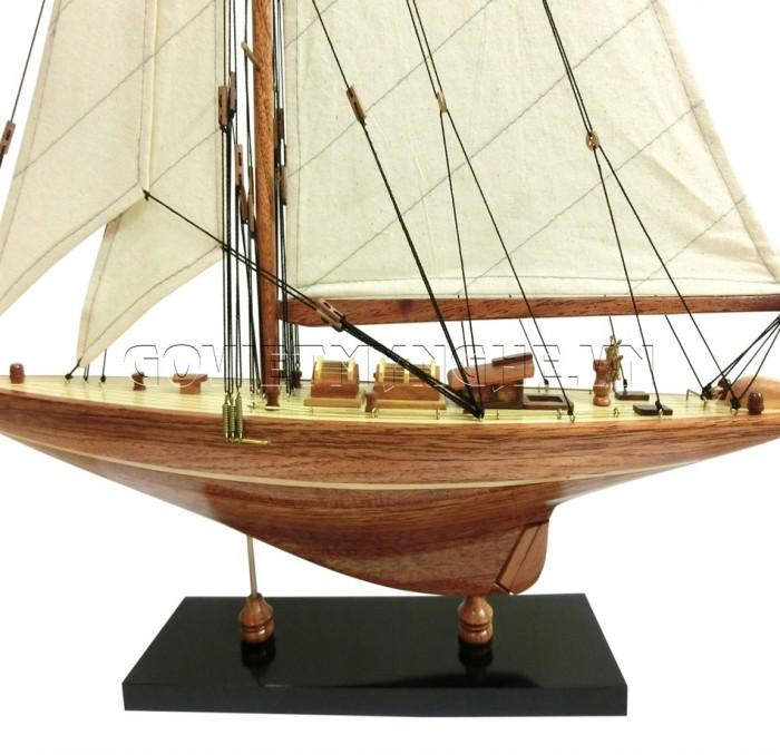 Mô Hình Du Thuyền Gỗ Shamrock 50cm1
