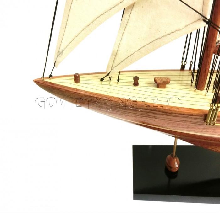 Mô Hình Du Thuyền Gỗ Shamrock 50cm2