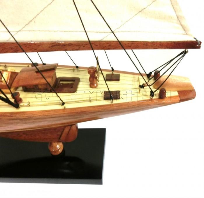 Mô Hình Du Thuyền Gỗ Shamrock 50cm4