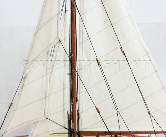 Mô Hình Du Thuyền Gỗ Shamrock 50cm6