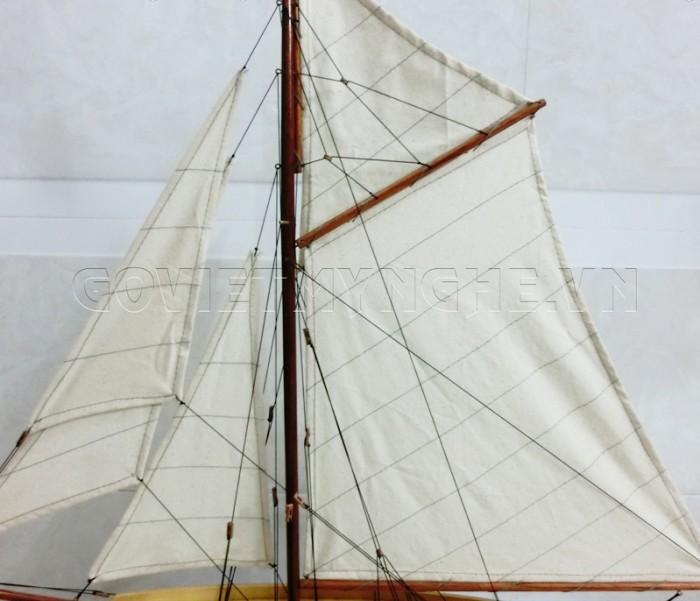 Mô hình du thuyền gỗ Penduick 70cm6