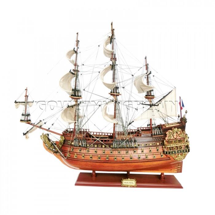 Mô hình thuyền chiến cổ Soleil Royal 80cm0