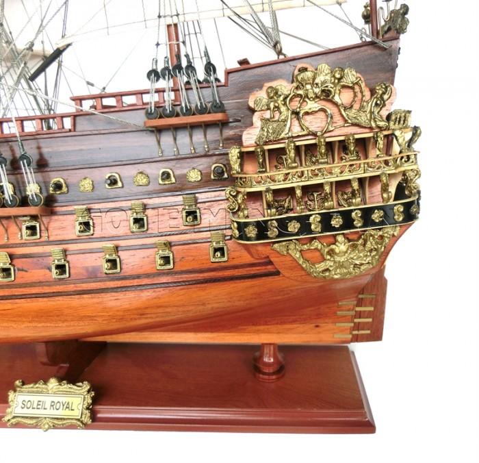 Mô hình thuyền chiến cổ Soleil Royal 80cm1