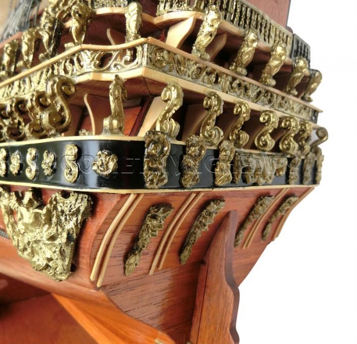 Mô hình thuyền chiến cổ Soleil Royal 80cm3