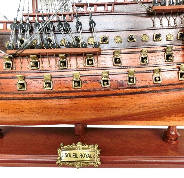 Mô hình thuyền chiến cổ Soleil Royal 80cm4