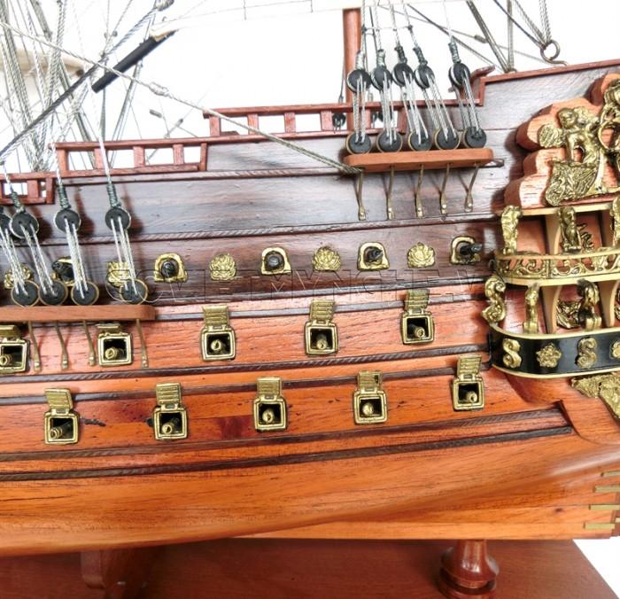 Mô hình thuyền chiến cổ Soleil Royal 80cm5