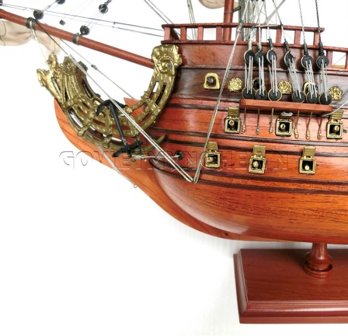 Mô hình thuyền chiến cổ Soleil Royal 80cm6