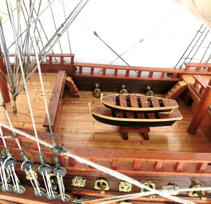 Mô hình thuyền chiến cổ Soleil Royal 80cm8