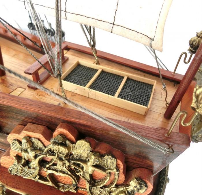 Mô hình thuyền chiến cổ Soleil Royal 80cm10
