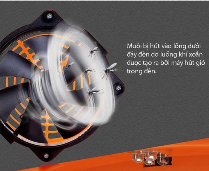 Đèn không gây tiếng nổ hay ồn khi diệt muỗi và tiết kiệm điện năng.3