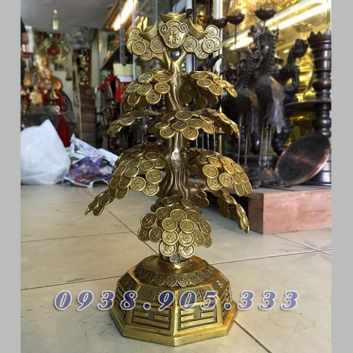 Cây tiền phong thủy bày bàn thờ thần tài 40cm2