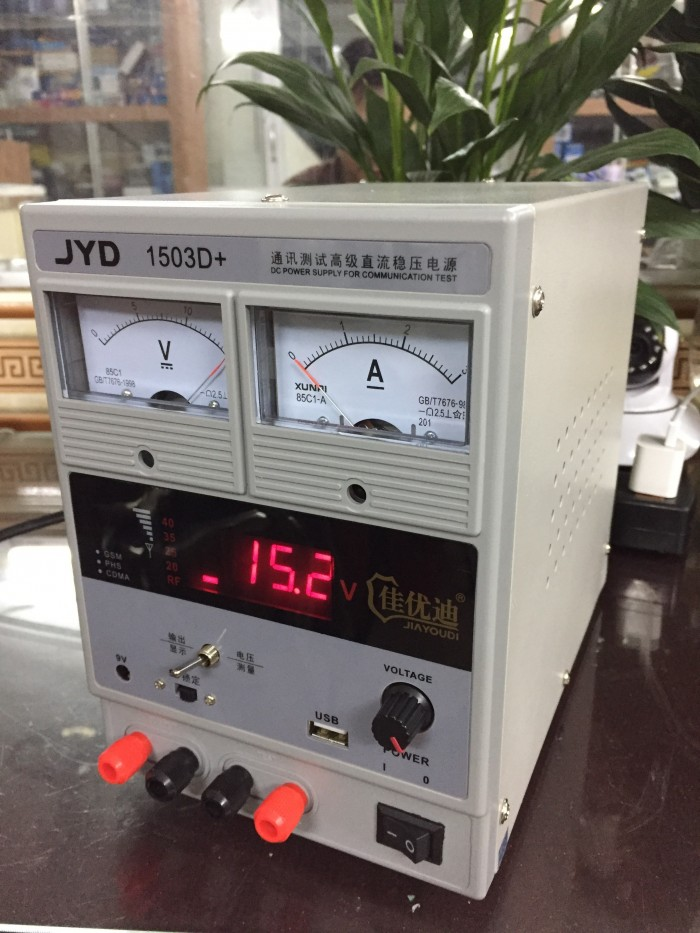 Cần bán Máy đo sóng và cấp nguồn jyd 1503d+ (15v-3a)