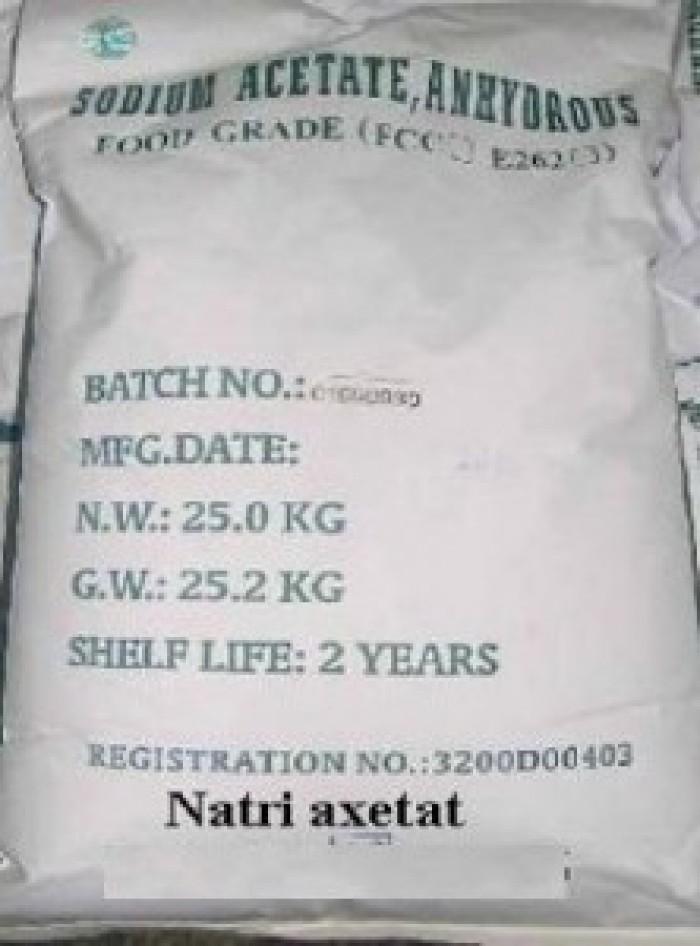 Natri Acetat, Sodium Acetate, CH3COONa, chất sản xuất giấy carton gợn sóng, chất chóng cháy...