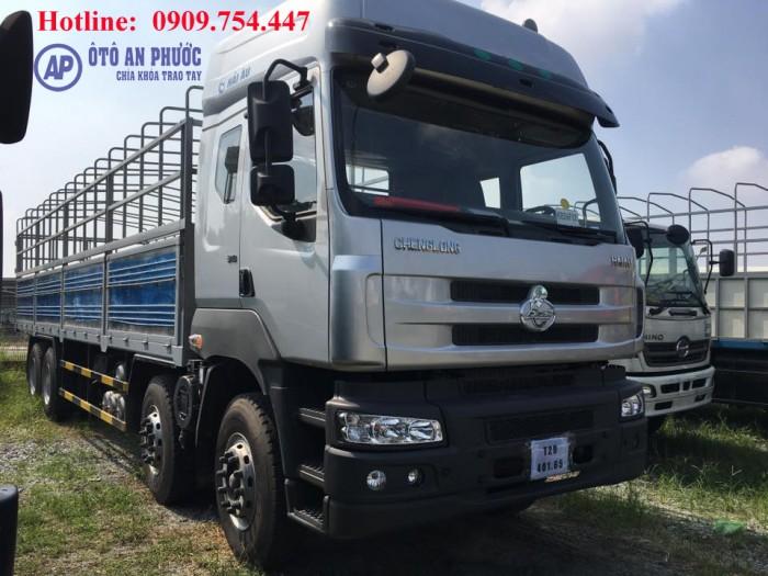 Xe tải 4 chân chenglong 17T9 thùng dài 9m6 khuyến mãi