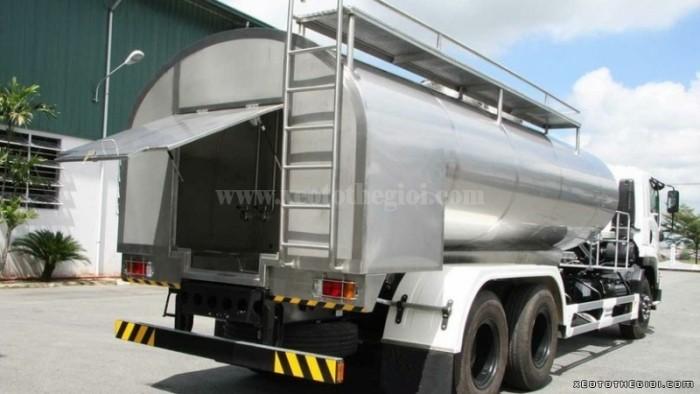 Đóng thùng xi téc Isuzu chính hãng 12 m3 FVM34W  thùng chứa sữa + khuyến mãi cực hot