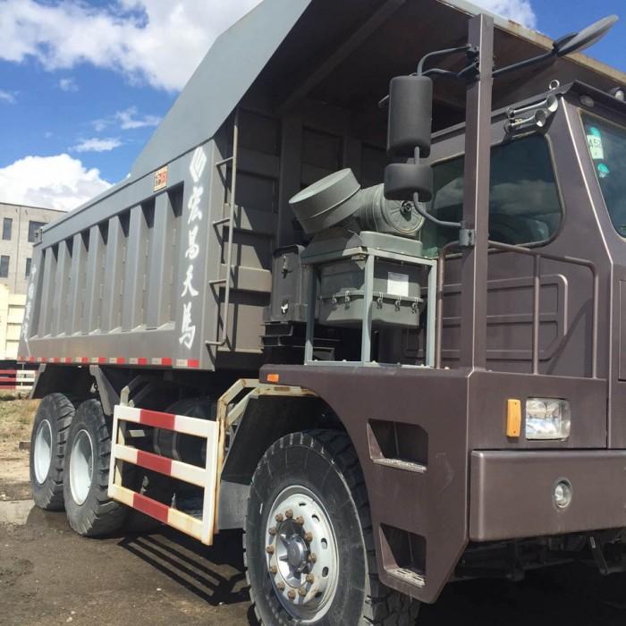 Xe tải ben Howo bá vương mỏ - đầu lệch - 70 tấn