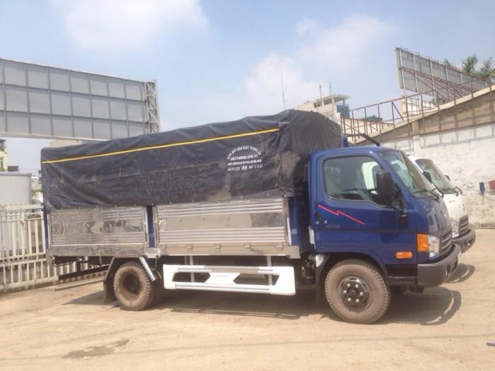 Xe Tải Hyundai Hd700 7.5 Tấn Đồng Vàng Thùng Inox, hỗ Trợ Trả Góp 80% Giá Trị Xe