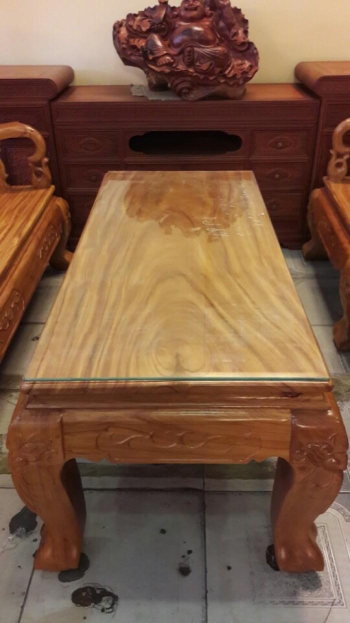 Bộ bàn ghế gõ đỏ chạm đào 6 món tay 12-BBG252