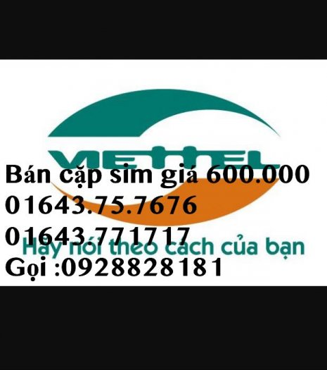 Sim Viettel cặp sim giá 600.000 đ,tặng kèm 2 sim 092