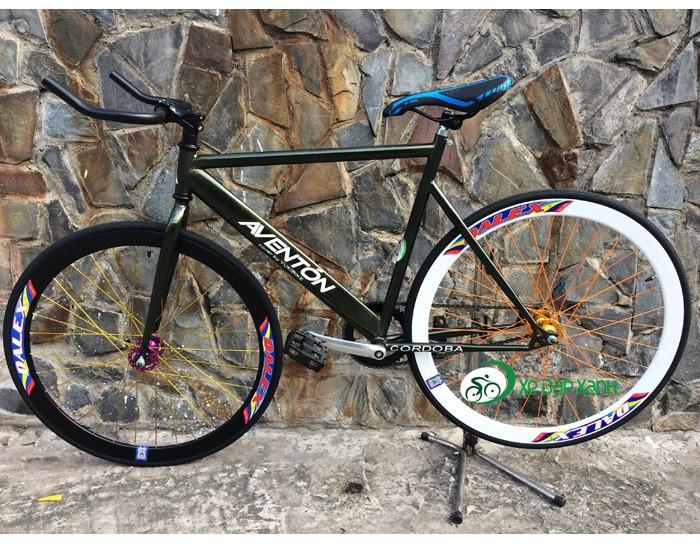 Xe đạp Fixed Gear New màu XANH RÊU, PHONG CÁCH CỰC CHẤT