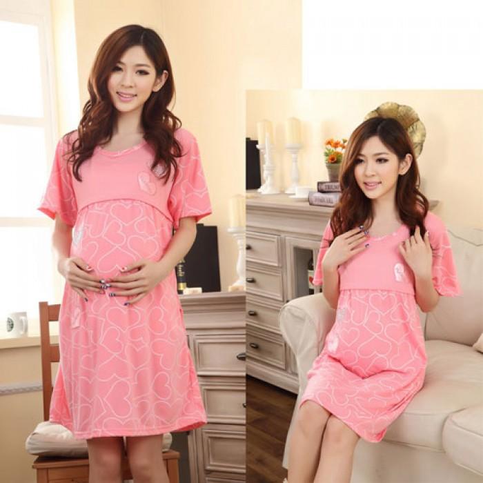 Váy Bầu Cho Con Bú Sweet Heart NX66060