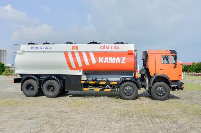Xe bồn Kamaz 23m3 (Bồn sát) | Kamaz bồn xăng dầu |  #Kamaz6540bonxang dau