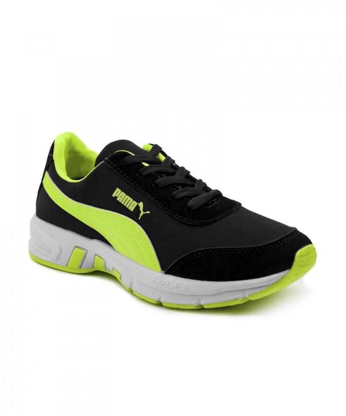 Giày nữ Sneaker đen phối xanh MSN8008
