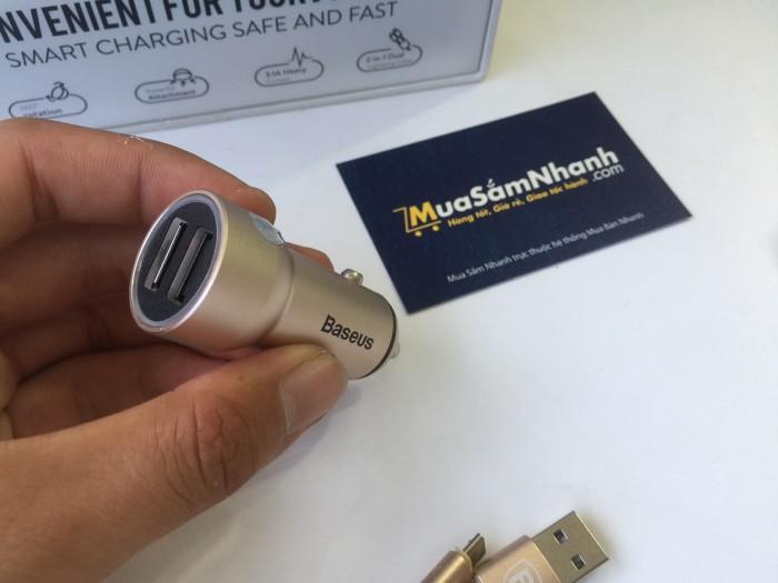 Cóc Sạc Ô Tô 2 Công USB Cao Cấp Metal Car Charger