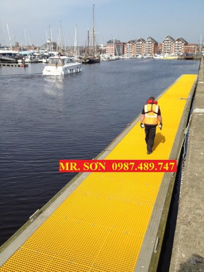 thi công sàn thao tác chống trượt, sàn lót bến tàu, cảng6
