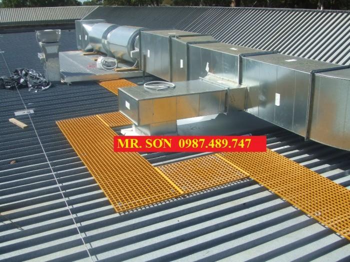 sàn thao tác trên mái nhà xưởng, máy hút gió9