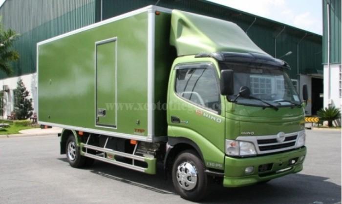 Xe Hino thùng kín 4.3 tấn mới về, cam kết giả rẻ toàn quốc.
