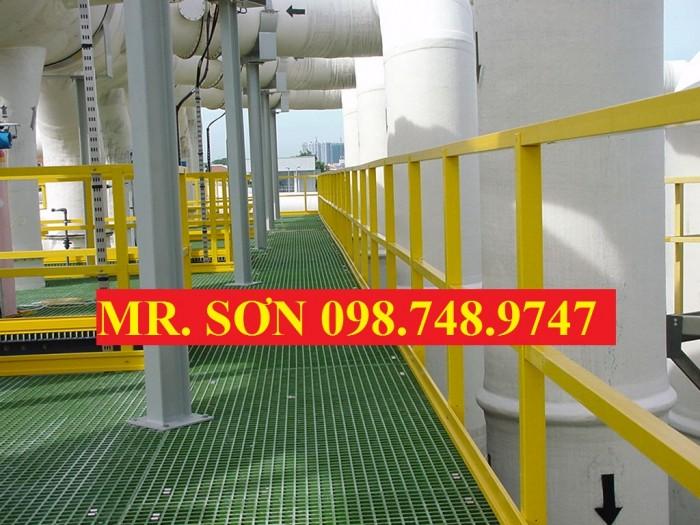 sàn nâng trong dầu khí, lọc dầu frp4