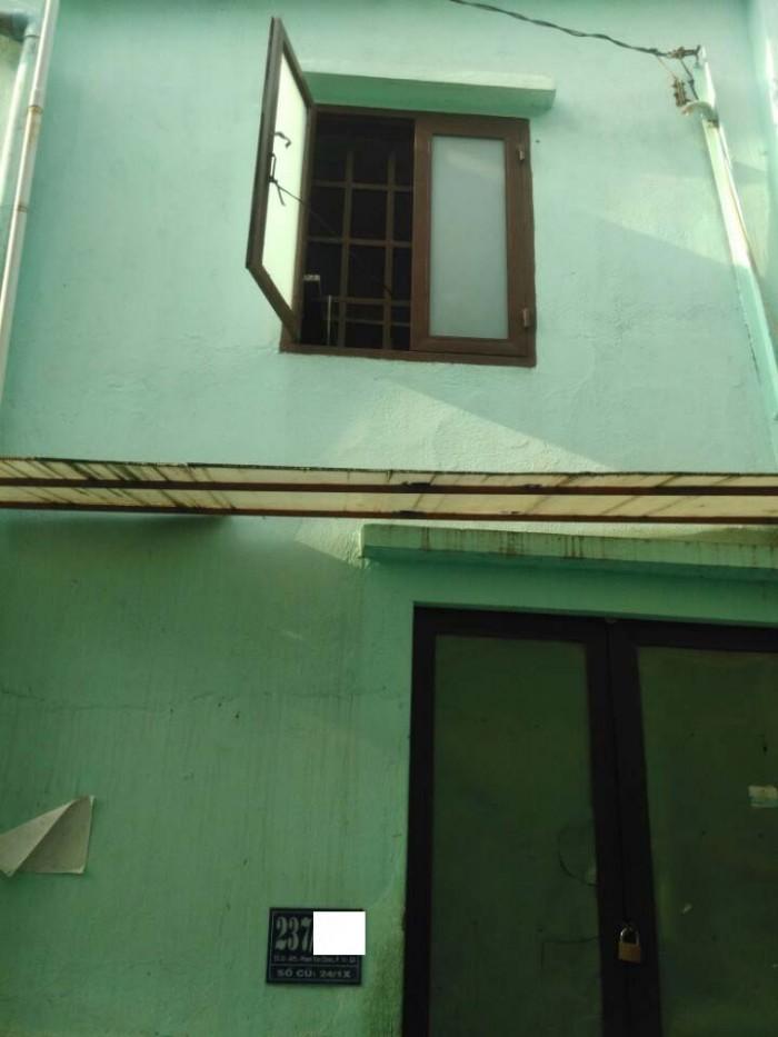 Nhà Hẻm 237 PhạmVănChiêu, Phường14, GòVấp, Hẻm3mThông, 4x14m, Cấp4, 4PTrọ, ĐôngNam